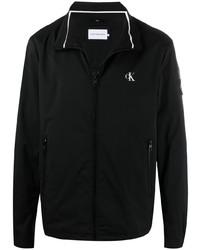 Calvin Klein Jeans Logo Print Zip Up Windbreaker Jacket