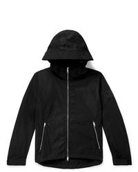 Burberry Loqo Appliqud Shell Hooded Jacket