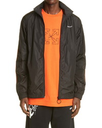 Off-White Pivot Logo Arrow Nylon Jacket