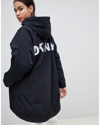 DKNY Reversible Logo Hooded Jacket