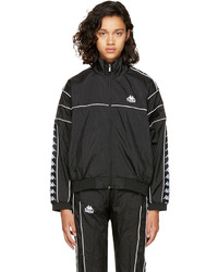 Ssense black oversized windbreaker track jacket medium 4413099