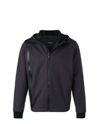 Z Zegna Zip Detail Hooded Jacket