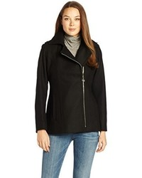 Anne Klein Asymmetrical Wool Zip Jacket