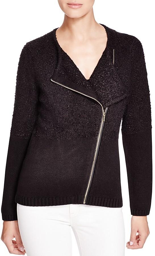 Calvin Klein Asymmetric Textured Knit Jacket Where to buy & how to wear