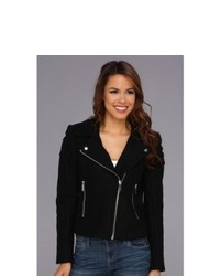 MICHAEL Michael Kors Michl Michl Kors Moto Wool Jacket Coat Black