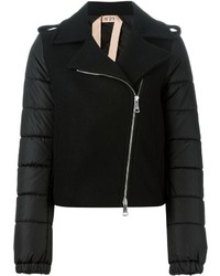 No.21 No21 Padded Sleeves Biker Jacket