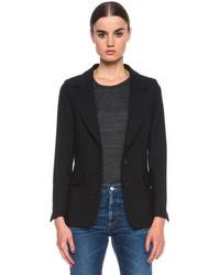 Golden Goose Basic Wool Blend Blazer In Black
