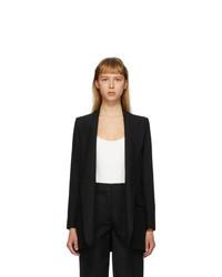 AMI Alexandre Mattiussi Black Buttonless Long Blazer