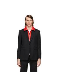 Burberry Black Classic Tailored Blazer