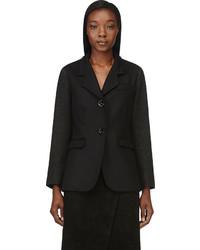 Maiyet Black Contrasting Sleeves Blazer