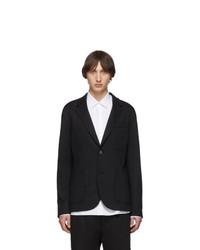 Lanvin Black Double Faced Jersey Blazer