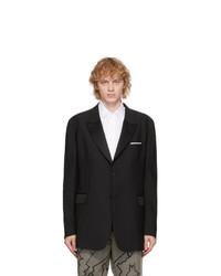 Neil Barrett Black Gabardine Tuxedo Blazer