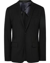 Acne Studios Black Jack Travel Slim Fit Wool Piqu Blazer