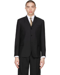 Burberry Black Mohair Tailored Relaxed Fit Blazer