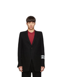 Rick Owens Black Neue Patch Blazer