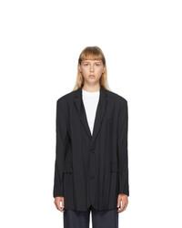 Balenciaga Black Plissee Blazer
