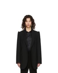 Balenciaga Black Suspended Shoulder Blazer