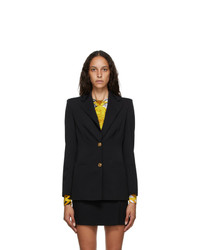 Versace Black Two Button Blazer