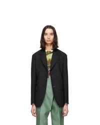 Andersson Bell Black Wool Cinch Waist Blazer