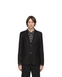 A.P.C. Black Wool Spencer Blazer