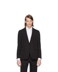 Burberry Black Wool Tailored Blazer