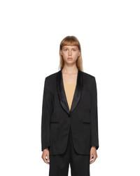 MM6 MAISON MARGIELA Black Wool Wrinkle Blazer