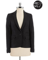 Lord & Taylor Boucle And Stretch Knit Jacket