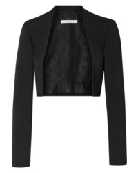Givenchy Cropped Med De Poudre Wool Blazer