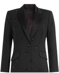 Diane von Furstenberg Wool Blazer With Beaded Embellisht