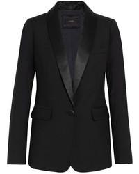 J.Crew Hugh Satin Trimmed Wool Blazer Black