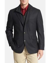 Kroon Big Tall Ritchie Classic Fit Wool Cashmere Hybrid Sport Coat