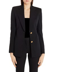 Versace Medusa Button Stretch Wool Blazer