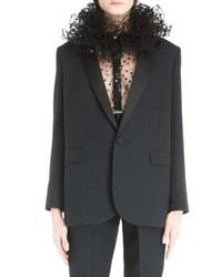 Saint Laurent One Button Tuxedo Jacket