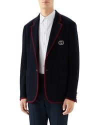 Gucci Palma Wool Cotton Jersey Sport Coat