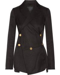 Proenza Schouler Cotton And Wool Blend Jacquard Blazer Black