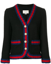 Gucci Slim Fit Contrasting Piping Blazer