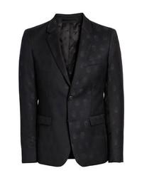 Slim fit jacquard wool dinner jacket medium 8576531