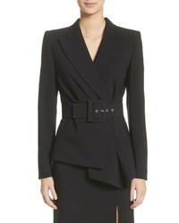 Michael Kors Wool Blend Pebble Crepe Blazer