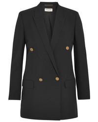 Saint Laurent Wool Gabardine Blazer Black