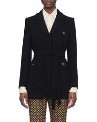 Gucci Wool Sable Wrap Jacket