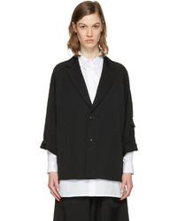 Y's Ys Black Raglan Sleeve Blazer
