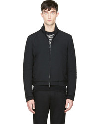 DSquared 2 Black Wool Bomber Jacket