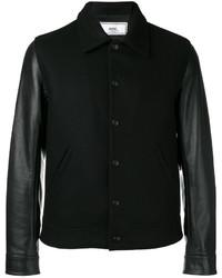 AMI Alexandre Mattiussi Bimaterial Press Button Jacket