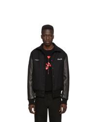 Noah NYC Black Depeche Mode Violator Rose Bomber Jacket