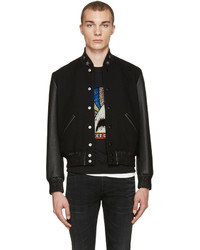 9e3593bf239 Men's Black Wool Bomber Jackets by Saint Laurent | Men's Fashion ...