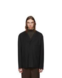 Lemaire Black V Neck Jacket