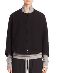 Chloé Chloe Wool Cropped Bomber Jacket