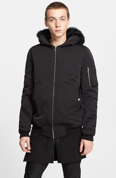 Down bomber jacket with hood – Modern fashion jacket photo blog