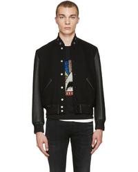 Black Wool Bomber Jackets for Men | Men&39s Fashion