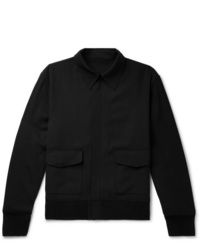 The Row Wes Virgin Wool Blend Twill Bomber Jacket